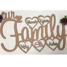 Laser Cut Wooden and Acrylic Decor. Gifts for all Occasions. - X-Large Wall Hanging Personalised Family Keepsake Engraving Ideas, Laser Engraving, Wooden Gifts, Wooden Decor, Customized Gifts, Personalized Gifts, Chanel Art, Gifts Australia, Family Signs