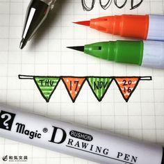 本日の一枚ガーランドに日付を入れてみましたカラーペンで塗った上から白ペンで模様を描いてます() #クリーンカラー #白ペン #イラスト #ガーランド #バレットジャーナル #手帳 #ダイアリー #illustration #garland #bulletjournal #diary #planner #planning #stationeryaddict #stationerylove #お洒落 #文房具 #文具 #stationery #和気文具 Creations, Stationery, Notebook, Bullet Journal, Notes, Stamp, Diy Crafts, Drawings, Illustration