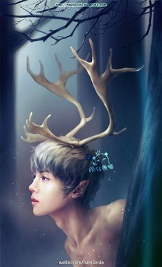 Fanart of Luhan from EXO. Oh my gosh! It is to cute!