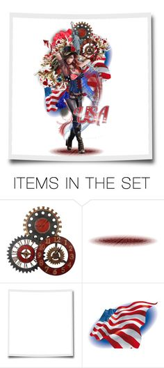 """Born in the USA ~"" by fm3happy ❤ liked on Polyvore featuring art"