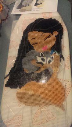 Pocahontas and Meko perler beads by indidolph - Pattern: https://www.pinterest.com/pin/374291419007989490/