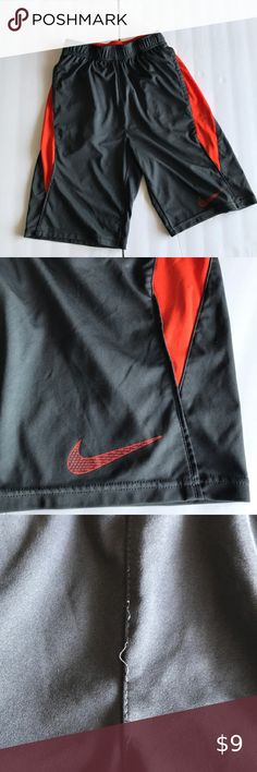 Boys Athletic Shorts XL 16-18 Basketball Workout Running Silky Pocket Gray Red