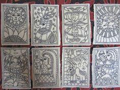 CrazyLassi's Madhubani Art Practice and Research Blog: How to Make Madhubani Greeting Cards