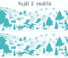 Najdi 5 rozdílů v Zimních radovánkách :-)  #finddifferences #najdirozdily #agentimysterii #fun #kids #děti #aktivity