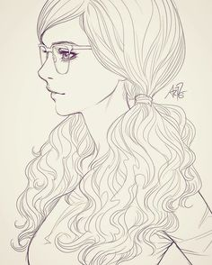 Sketching in class with my students. Kinda into girls with glasses at the moment. ;)