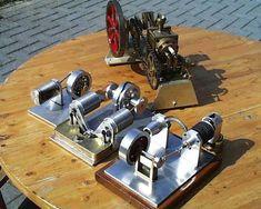 CNCCookbook: Stirling Engine Models - Bill Sondagh of the Netherlands collection of Sterling engines.