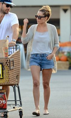 Lauren Conrad wearing LC Lauren Conrad Simulated Crystal Arrow Necklace,  Shopping at Pavilions with new fiance William Tell October 13 2013
