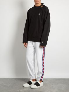 X Champion oversized cotton-blend sweatshirt | Vetements | MATCHESFASHION.COM US