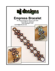 Instructions for Empress Bracelet          Beading by njdesigns1, $15.00