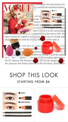 """Newchic.com 43"" by bebushkaj ❤ liked on Polyvore featuring beauty and Lumière"