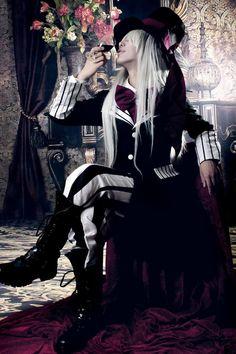 cosplay, black butler, undertaker cosplay