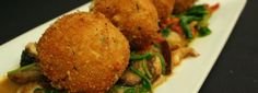 Cauliflower Fritter available until Aug Eclipse Restaurant, Restaurant Specials, Cauliflower Fritters, Beef, Food, Meat, Meals, Ox, Yemek