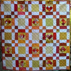 Sugar & Orange Spice baby quilt.