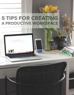 5 tips for creating a productive workspace in your home office or your bedroom.