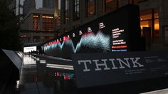 IBM Think Exhibit | 123ft. LED wall, displaying data and content drawn from the environment | Mirada