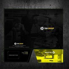 Create an A4 Presentation Folder by RUSLANdesing