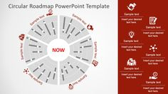 The Circular Roadmap PowerPoint Template is a professional PowerPointtimeline designed around the polar concept. The center of the circle represents the c
