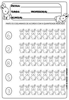 Kindergarten Math Worksheets, Preschool Printables, Worksheets For Kids, Number Sense Activities, Learning Activities, Kids Learning, Maths For Beginners, Live Life Love, First Grade Math