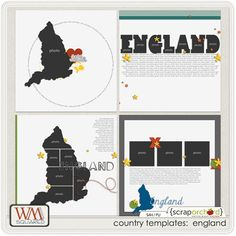 Country Templates: England by WM[squared] Designs. Template pack avail. at Scrap Orchard. (Use with Great Escape: England.)