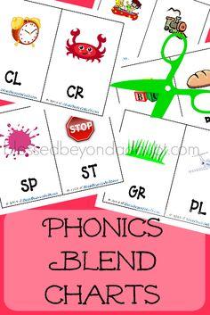 FREE phonics blend charts! Just print and cut!