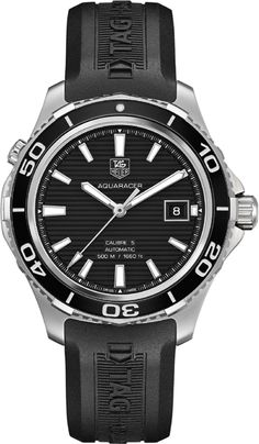 Discover a large selection of TAG Heuer Aquaracer watches on - the worldwide marketplace for luxury watches. Compare all TAG Heuer Aquaracer watches ✓ Buy safely & securely ✓ Tag Heuer Calibre 5, Fossil, Tag Heuer Aquaracer Automatic, Watch Deals, Black Rubber Bands, Tag Heuer Monaco, Mens Designer Watches, Discount Watches, Swiss Luxury Watches