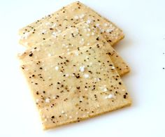Crackers are surprisingly easy to make at home; these Sea Salt and Pepper Crackers are a crunchy, healthy low-carb snack.