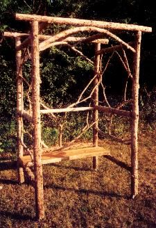 A rustic arbor I think I could actually build.