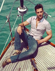 Boating. #summer #style #men #jeans #fashion