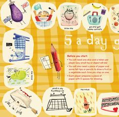 Play the 5 a day food game in Issue 4!