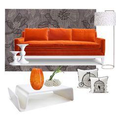 Happy orange living room Study Interior Design, Interior Decorating, Decorating Ideas, Decor Ideas, Grey And Orange Living Room, Orange House, Home Staging, My House, Love Seat