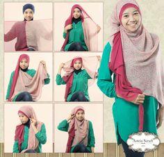 hijab tutorial by asteria