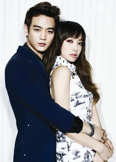 SHINee Minho and f(x) Victoria | High Cut magazine May 2013 issue.
