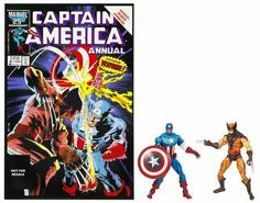 Wolverine and Captain America Marvel Universe Comic Book Action Figure 2 Pack by Hasbro. $12.99. Comic pack includes Captain America Annual #8 comic book and vividly colored Wolverine and Captain America action figures.. No mystery is deep enough to discourage Captain America. Confronted with evidence of the existence of a robot built specifically to destroy him, he follows every lead, hoping to stop it before it does any damage. When it turns out that Wolverine i...
