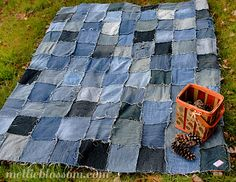 Repurposing Jeans: Denim Quilt