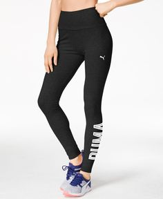 A sleek fit and performance dryCELL fabric help these Puma Style Swagger leggings live up to their name. | Cotton/elastane | Machine washable | Imported | High rise | Skinny fit through hips and thigh