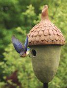 BirdFeederBirdHouse.com - Cement Bluebird Birdhouse, $52.00 (http://www.birdfeederbirdhouse.com/birdhouses/bluebird-birdhouse-cement/)