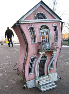 Come over to my house. (Decorative Interior house by EkaKaramelka on Etsy) Miniature Rooms, Miniature Houses, Pink Houses, Little Houses, Dollhouse Dolls, Dollhouse Miniatures, Fairy Houses, Doll Houses, Barbie