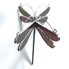 Autumn Wings Medium Stained Glass Dragonfly by katiediditglass