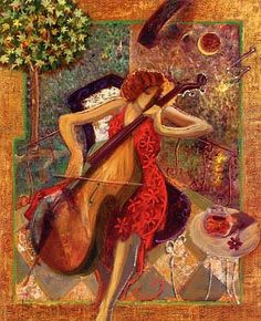 Alfa img - Showing > Sabzi Artist Painting with Two Musicians Abstract Painters, Oil Painting Abstract, Artist Painting, Figure Painting, Arte Cello, Oil Painting Frames, Iranian Art, Iranian Food, Selling Art Online