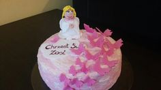 Angel and butterflies cake