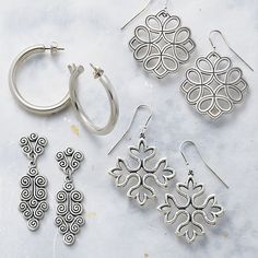 From simple and casual to stunning and bold – earrings are always a great gift for her. #giftforher #jamesavery