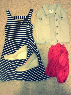 Casual yet dressy outfit--- dress and vest from Papaya and troupe wedges from Target were $29.99