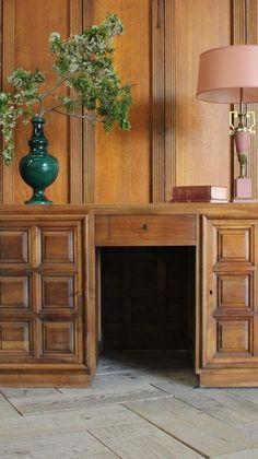 Antique Desk, Corner Desk, Mid Century, Cabinet, Antiques, Storage, Furniture, Vintage, Design