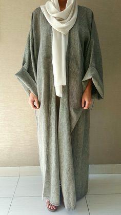 Abaya Style 832884524822480218 - Easy to Wear Grey Classic Linen Bisht – Qabeela Source by bzdsarahmn Abaya Fashion, Muslim Fashion, Modest Fashion, Fashion Outfits, Fashion Ideas, Modest Wear, Modest Dresses, Modest Outfits, Mode Abaya