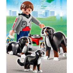 Playmobil Dog Breeds - Mountain Dogs with Puppy by Playmobil - $8.95