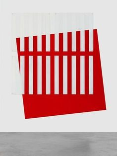 Die Farbe gesetzt/ersetzt Rot by Daniel Buren