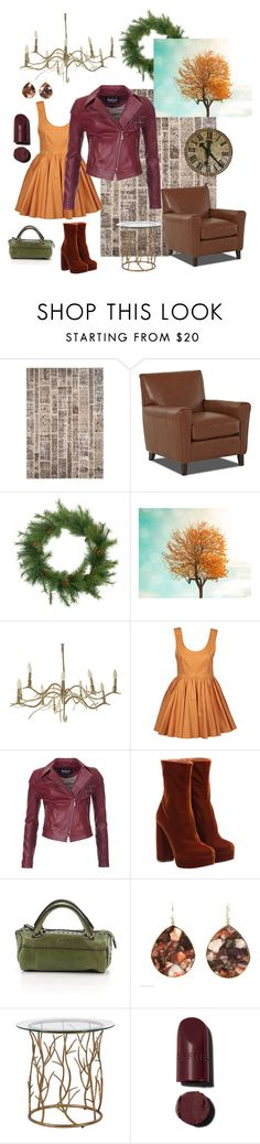 """Falling into Autumn"" by sophiasuarezlightfoot ❤ liked on Polyvore featuring Safavieh, may, Barbour International, Miu Miu, Matt & Nat and Ippolita"