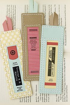 Bibliophile Book Marks by Erin Lincoln for Papertrey Ink (July 2015)