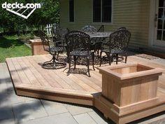 deck idea- like this planter addition!