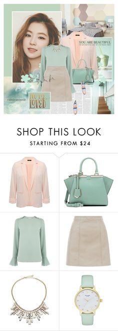 """""""In love with pastels"""" by rainie-minnie ❤ liked on Polyvore featuring M&Co, Fendi, Warehouse, New Look, ABS by Allen Schwartz, Kate Spade and Lanvin"""